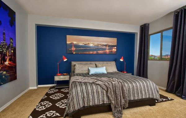 Bedroom With Blue Walls  15 Blue Bedrooms With Soothing Designs