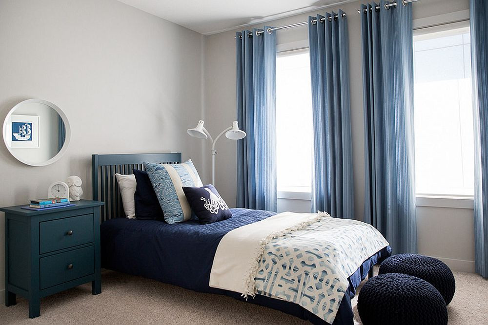 Bedroom With Blue Walls  Gray and Blue Bedroom Ideas 15 Bright and Trendy Designs