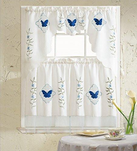 Blue Kitchen Curtains  Blue Kitchen Curtains Amazon