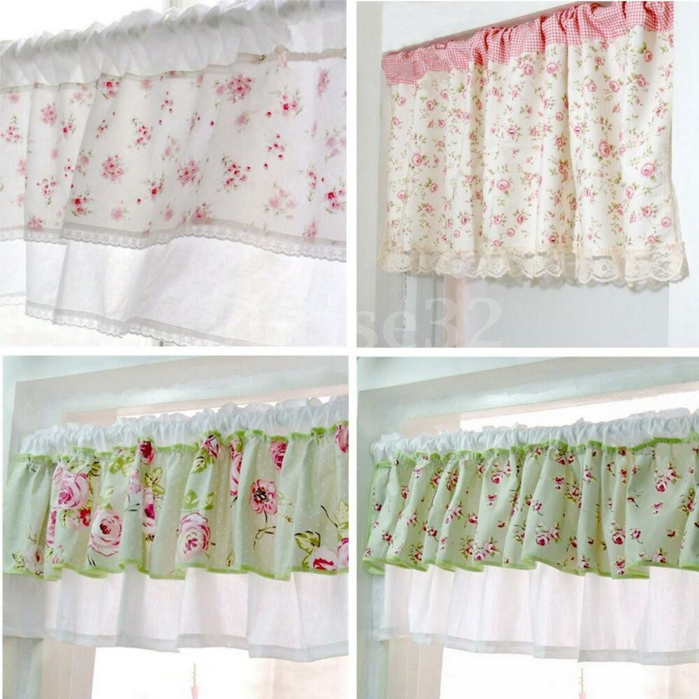 Blue Kitchen Curtains  Country Style French Provincial Home Kitchen Blue Pink