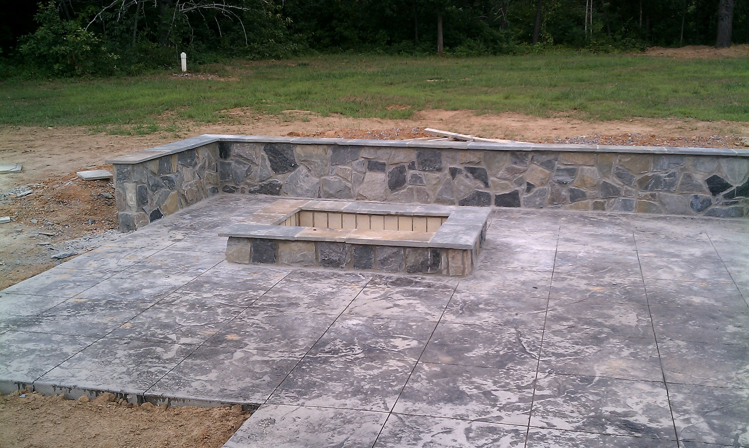 Built In Firepit  Should I Build a Fire Pit or a Fireplace Revolutionary