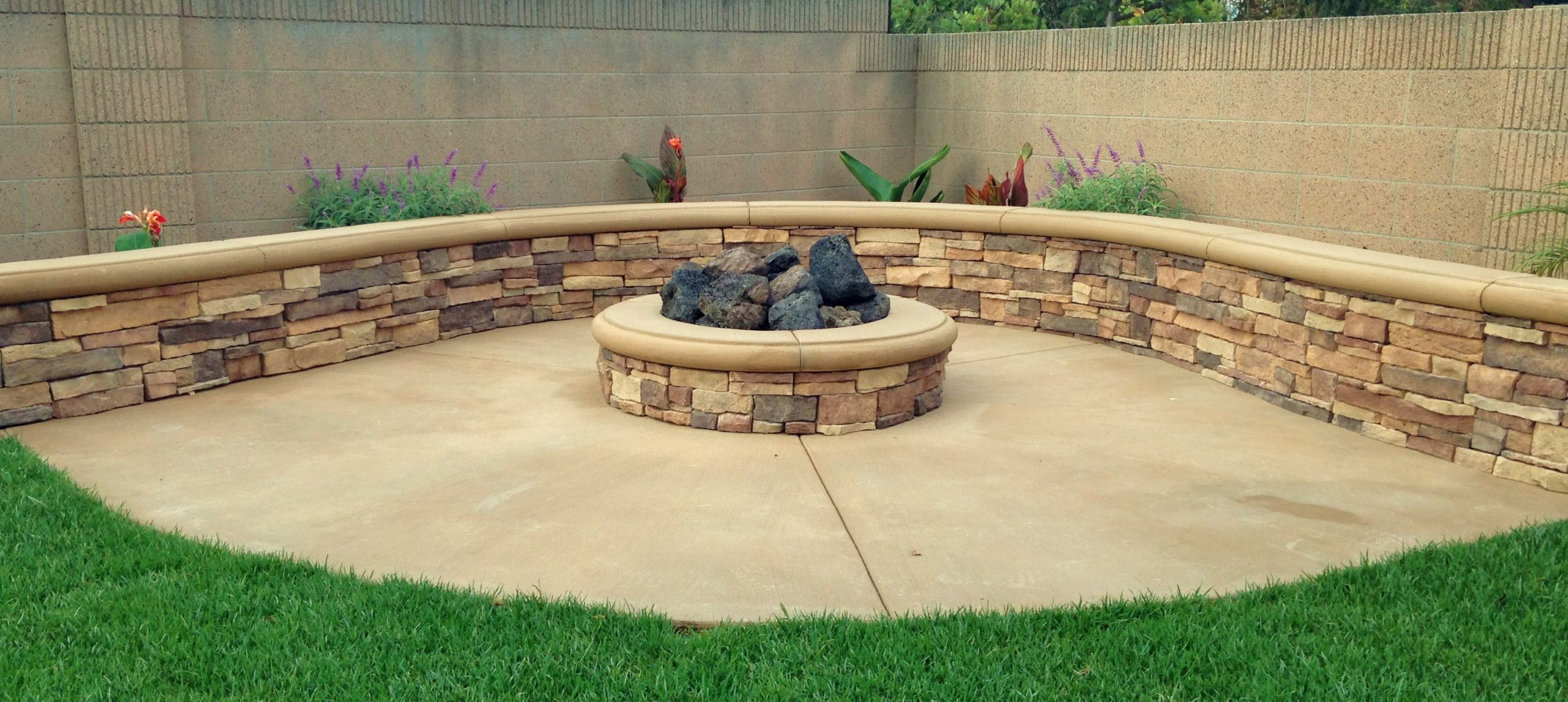Built In Firepit  Fire Pits Orange County Patio Areas