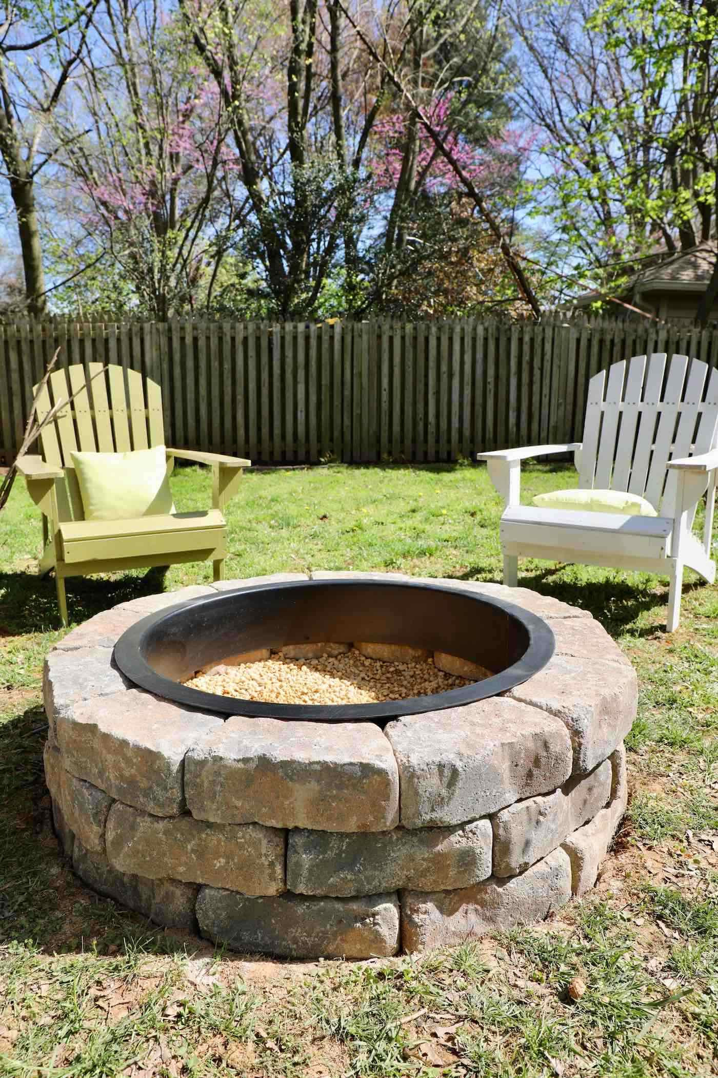 Built In Firepit  How to Build a Fire Pit in Your Backyard I Used a Fire