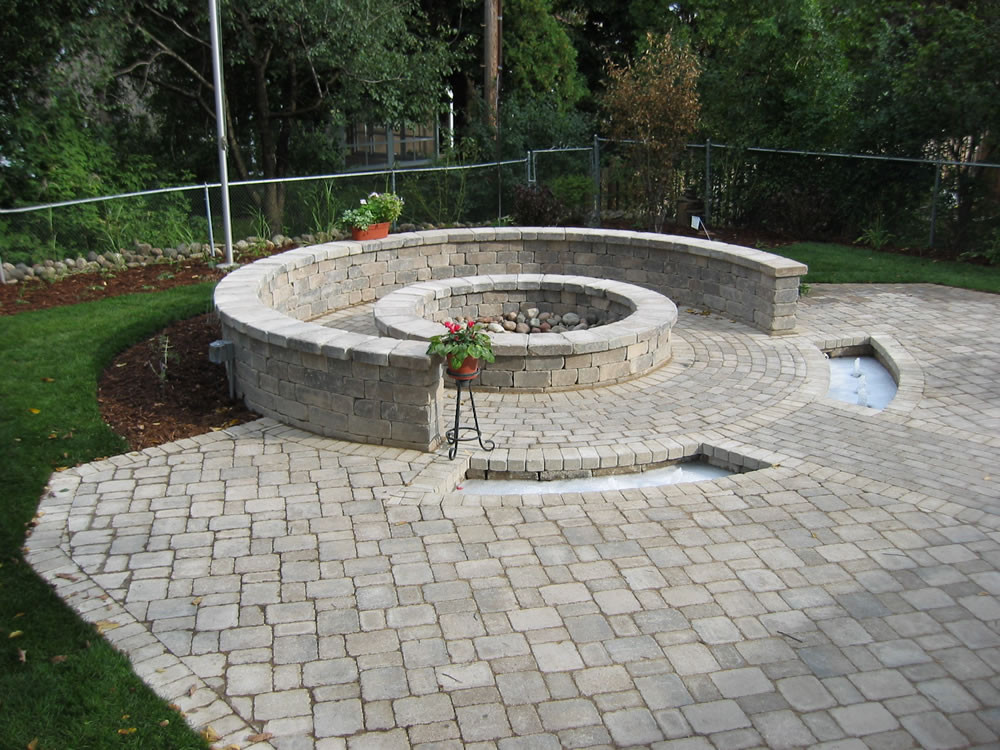 Built In Firepit  Fire Pits Outdoor Fireplaces