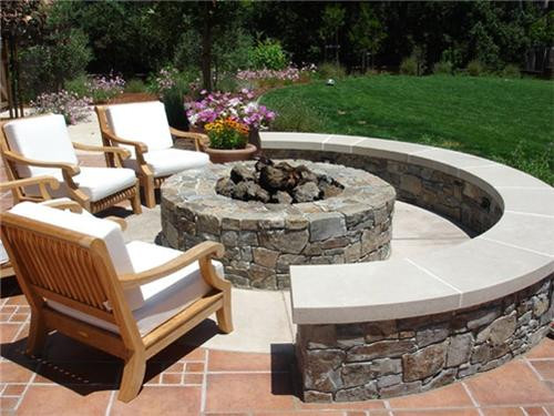 Built In Firepit  Natural Stone Fire Pit A Very Beautiful Option