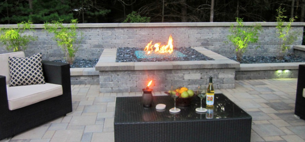 Built In Firepit  Fire Pits are Hot and Legal