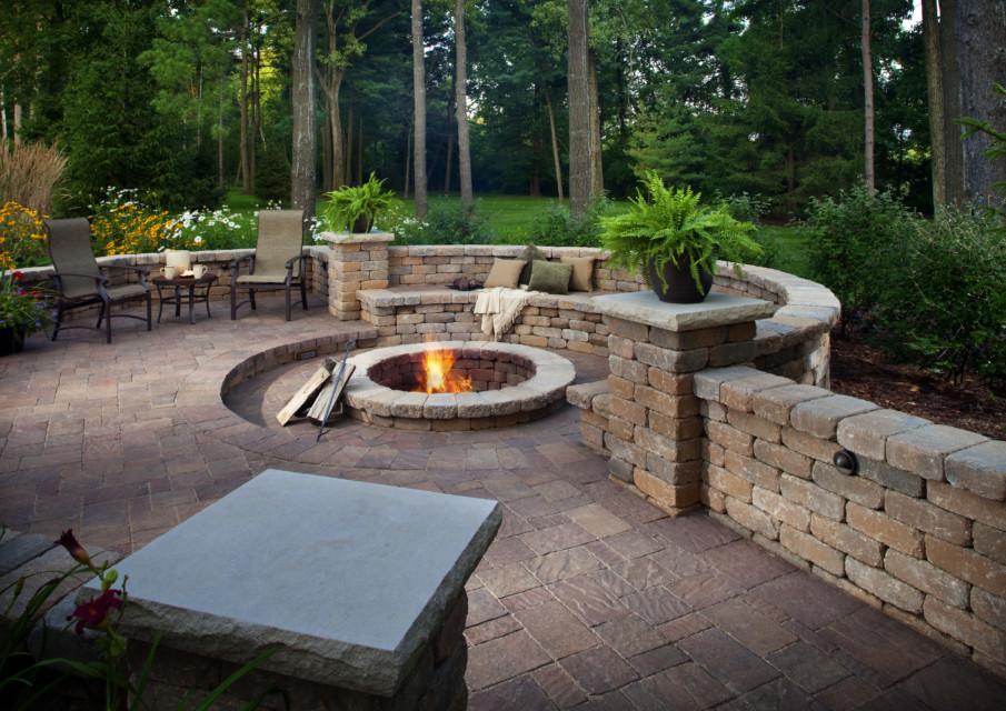 Built In Firepit  40 Best Sunken Patio Fire Pit Ideas for Your Backyard