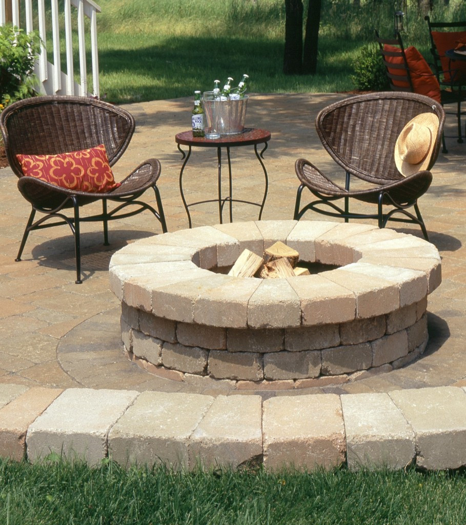Built In Firepit  Fire Table Kit Ideas for Outdoor Patio
