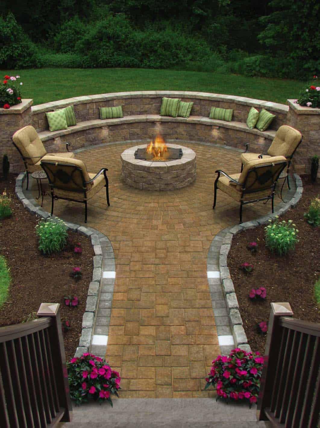 Built In Firepit  28 Inspiring Fire Pit Ideas To Create A Fabulous Backyard
