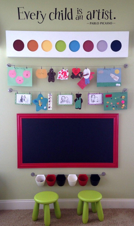 Chalkboard For Kids Room  KIDS PLAYROOM CHALKBOARD For Sale 53x28 Huge by RevivedVintage