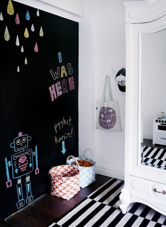 Chalkboard For Kids Room  33 Awesome Chalkboard Décor Ideas For Kids' Rooms DigsDigs