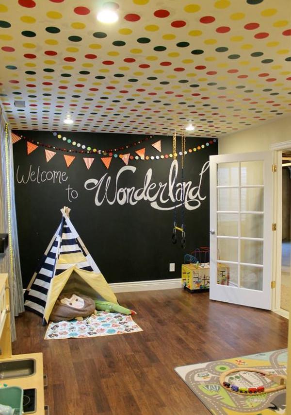 Chalkboard For Kids Room  30 Education Kids Playroom With Chalkboard Ideas