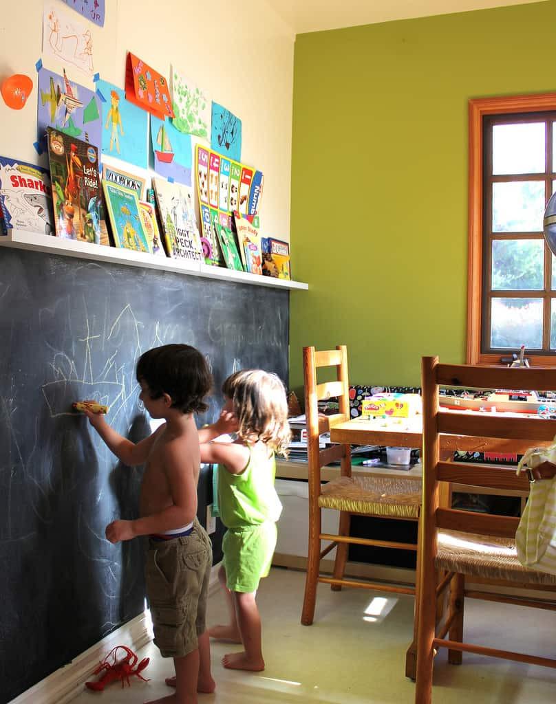 Chalkboard For Kids Room  Chalkboard Wall Trend es to Modern Homes 38
