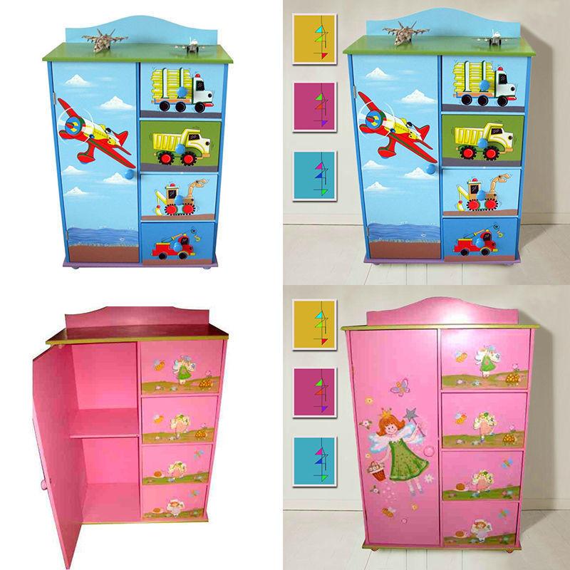Childrens Storage Cabinet  CHILDREN FURNITURE KIDS GIRLS BOYS CHEST OF DRAWERS