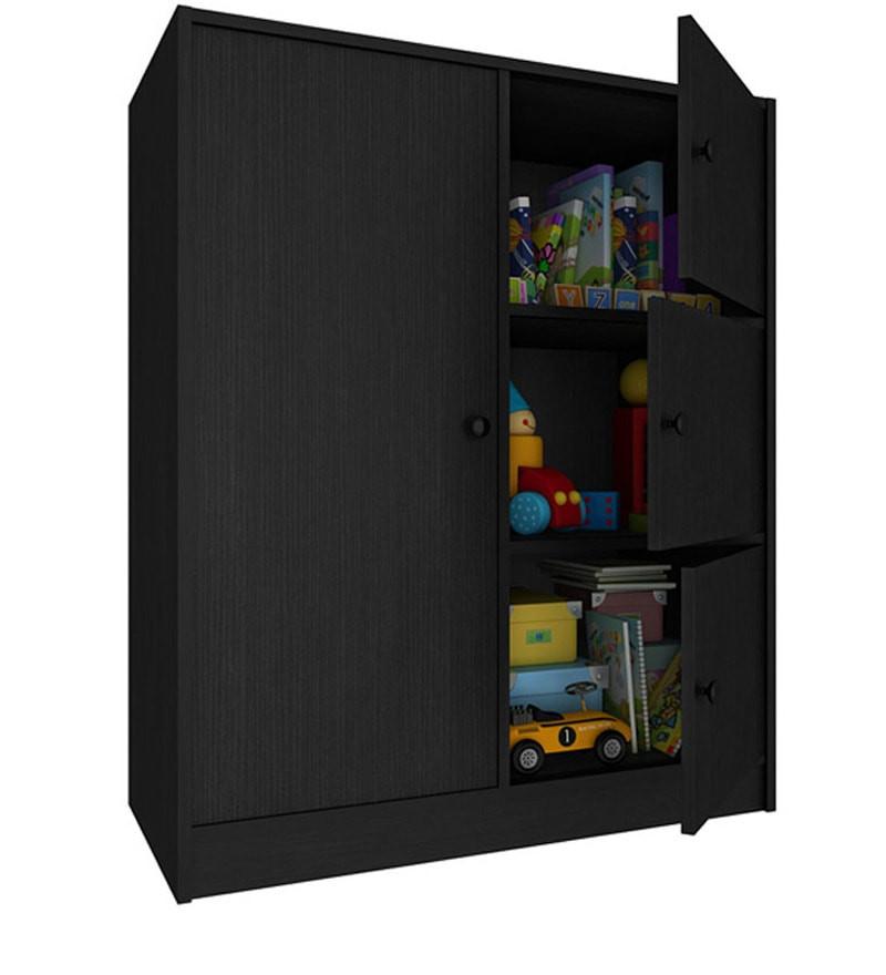 Childrens Storage Cabinet  Buy Lexus Kids Storage Cabinet in Black Oak Finish by