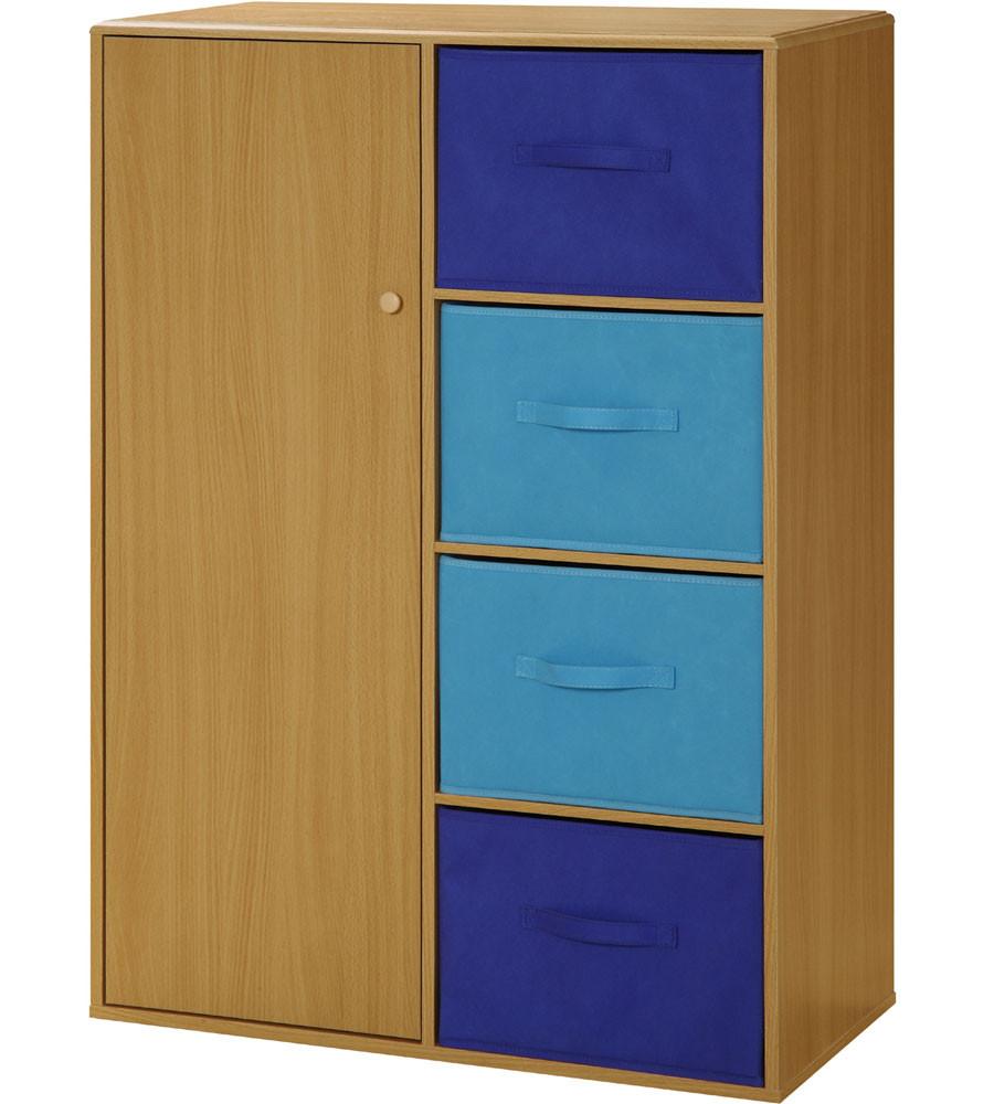 Childrens Storage Cabinet  Kids Storage Cabinet with Baskets in Storage Cubes