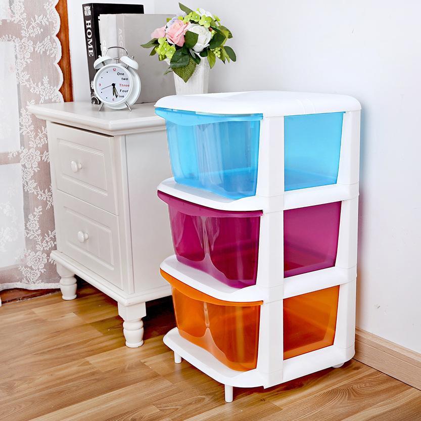 Childrens Storage Cabinet  2019 Children Three Drawer Storage Cabinets Baby Bedroom