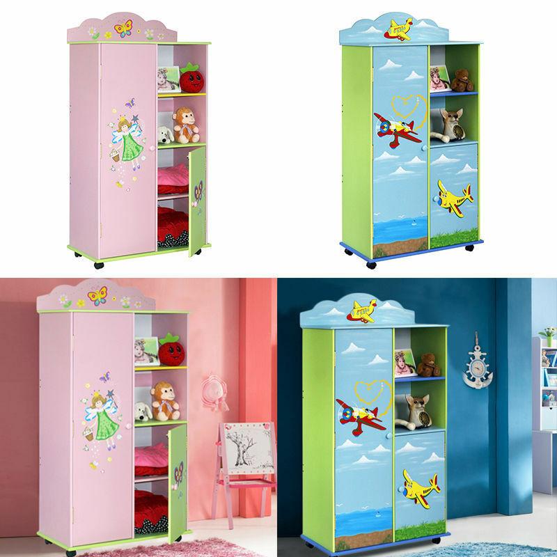 Childrens Storage Cabinet  CHILDREN KIDS PINK BLUE STORAGE CABINET MEDIUM WARDROBE