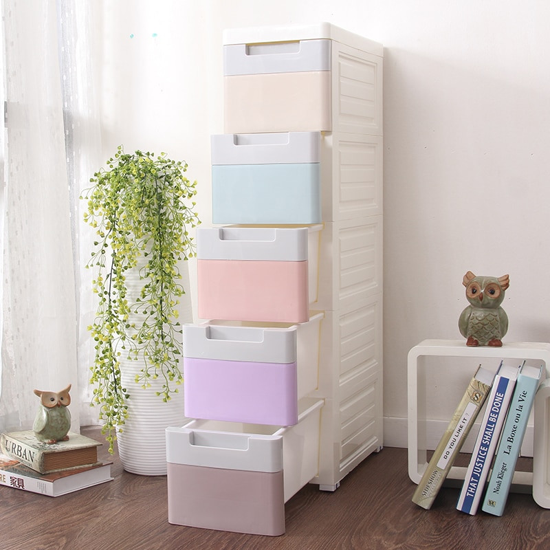 Childrens Storage Cabinet  Children s wardrobe plastic storage drawers cabinet for