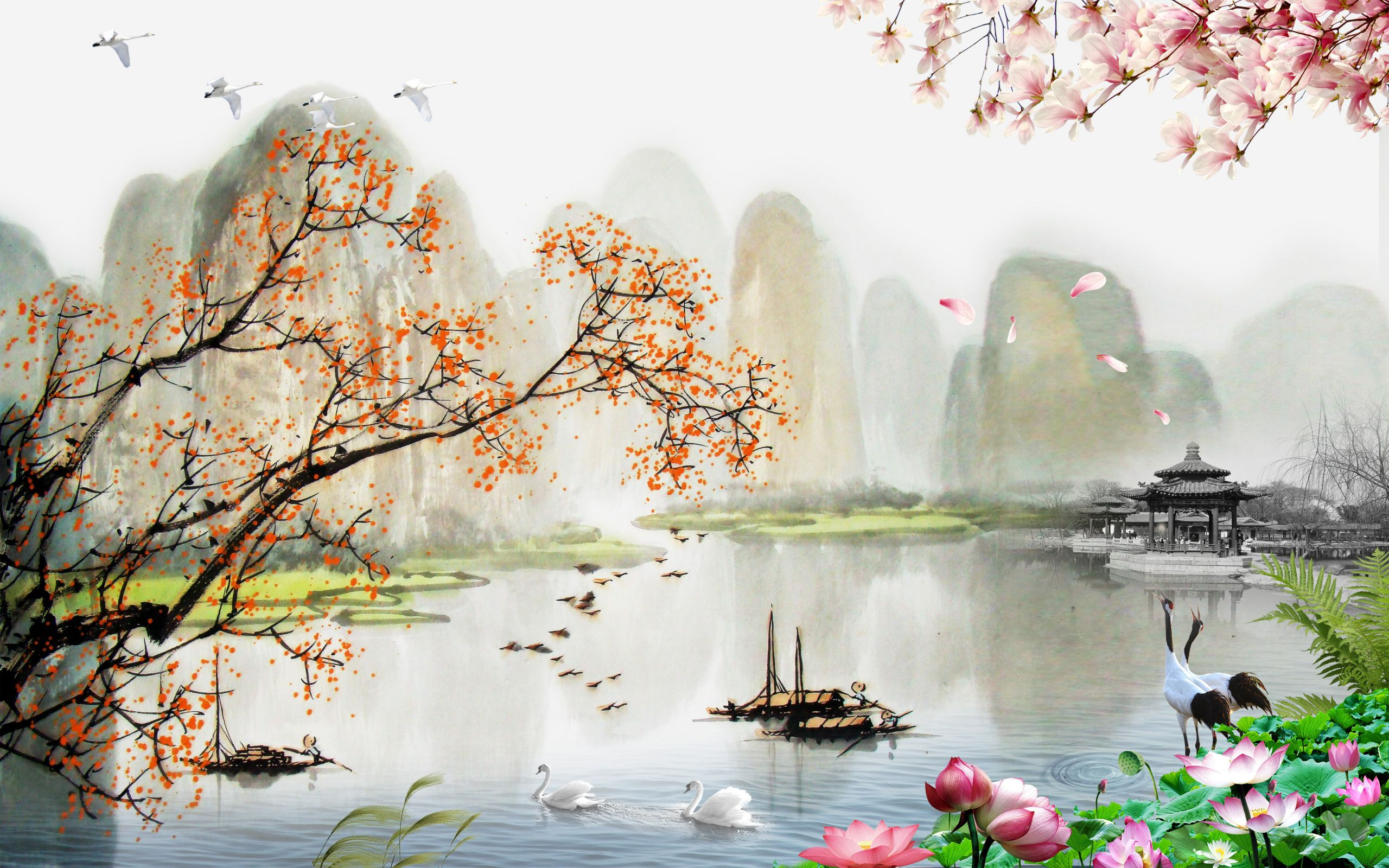 Chinese Landscape Paintings Lovely Chinese Landscape Painting Style Chinese Style Landscape