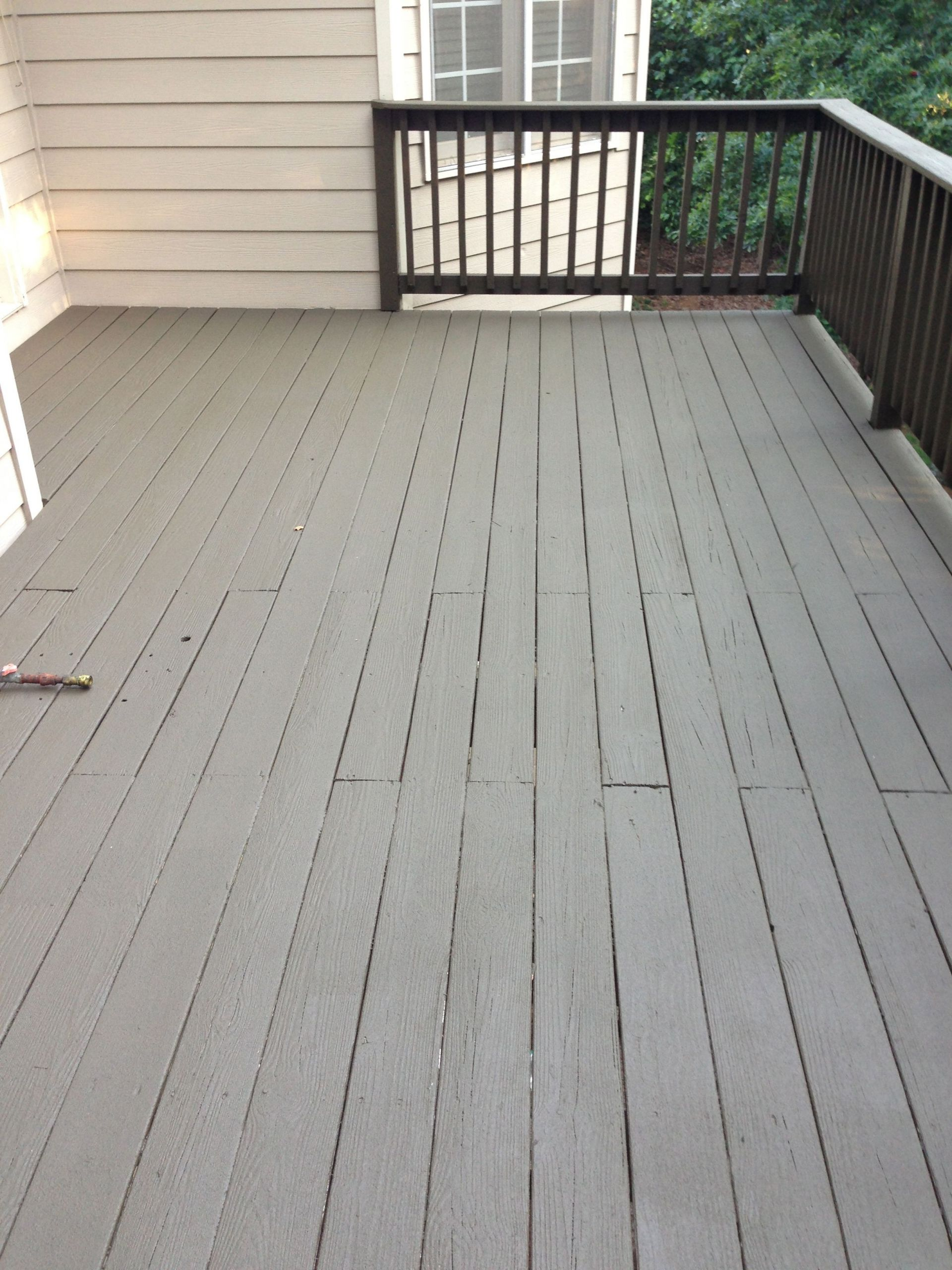 Cool Deck Paint Sherwin Williams  After photo Sherwin Williams Deck Revive fills cracks