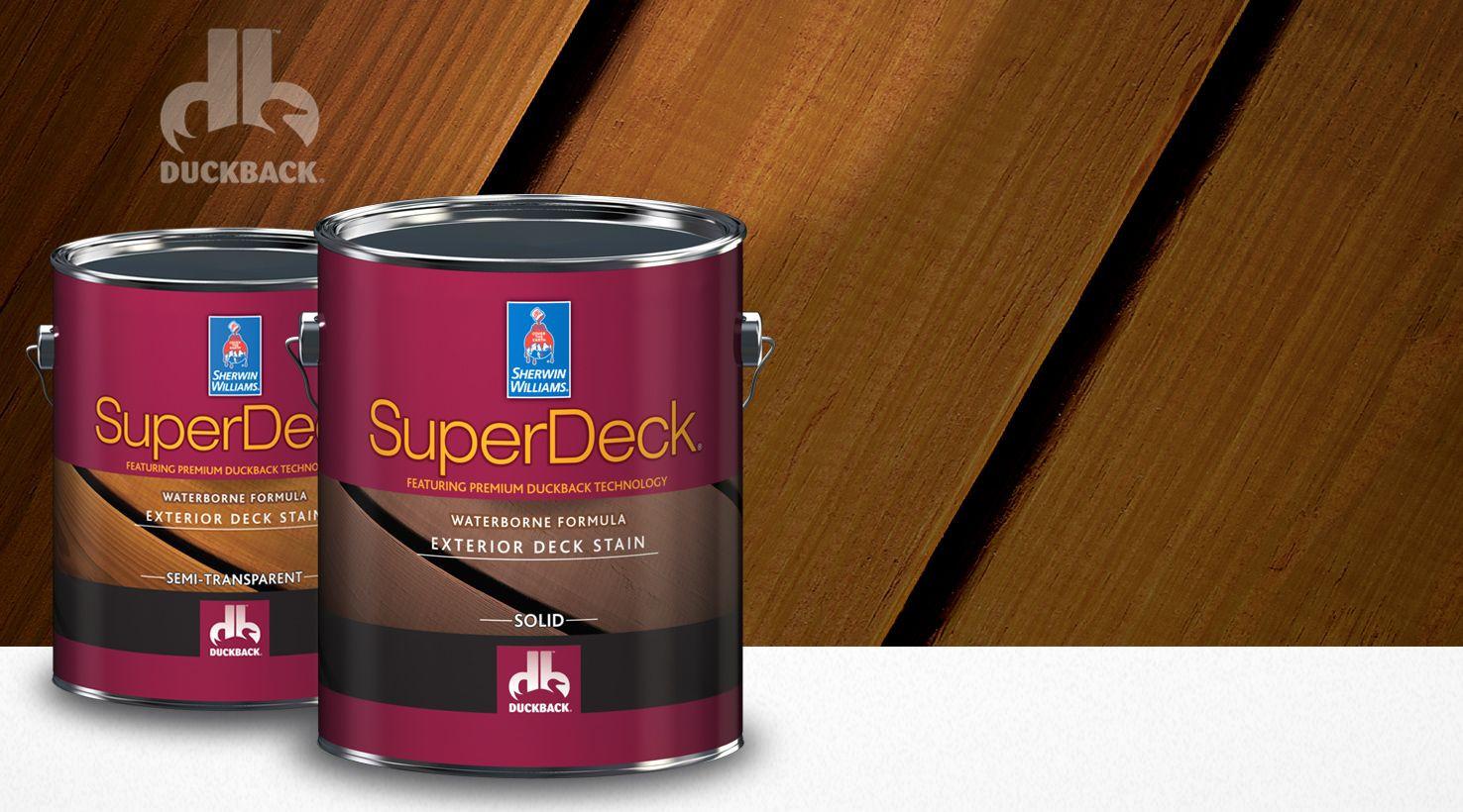 Cool Deck Paint Sherwin Williams  SuperDeck featuring premium Duckback Technology from