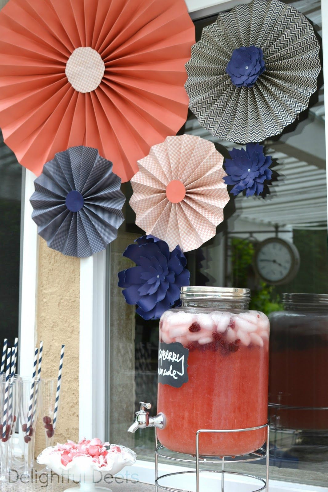 Coral Baby Shower Decor Awesome Delightful Deets Navy & Coral Baby Shower for Summer