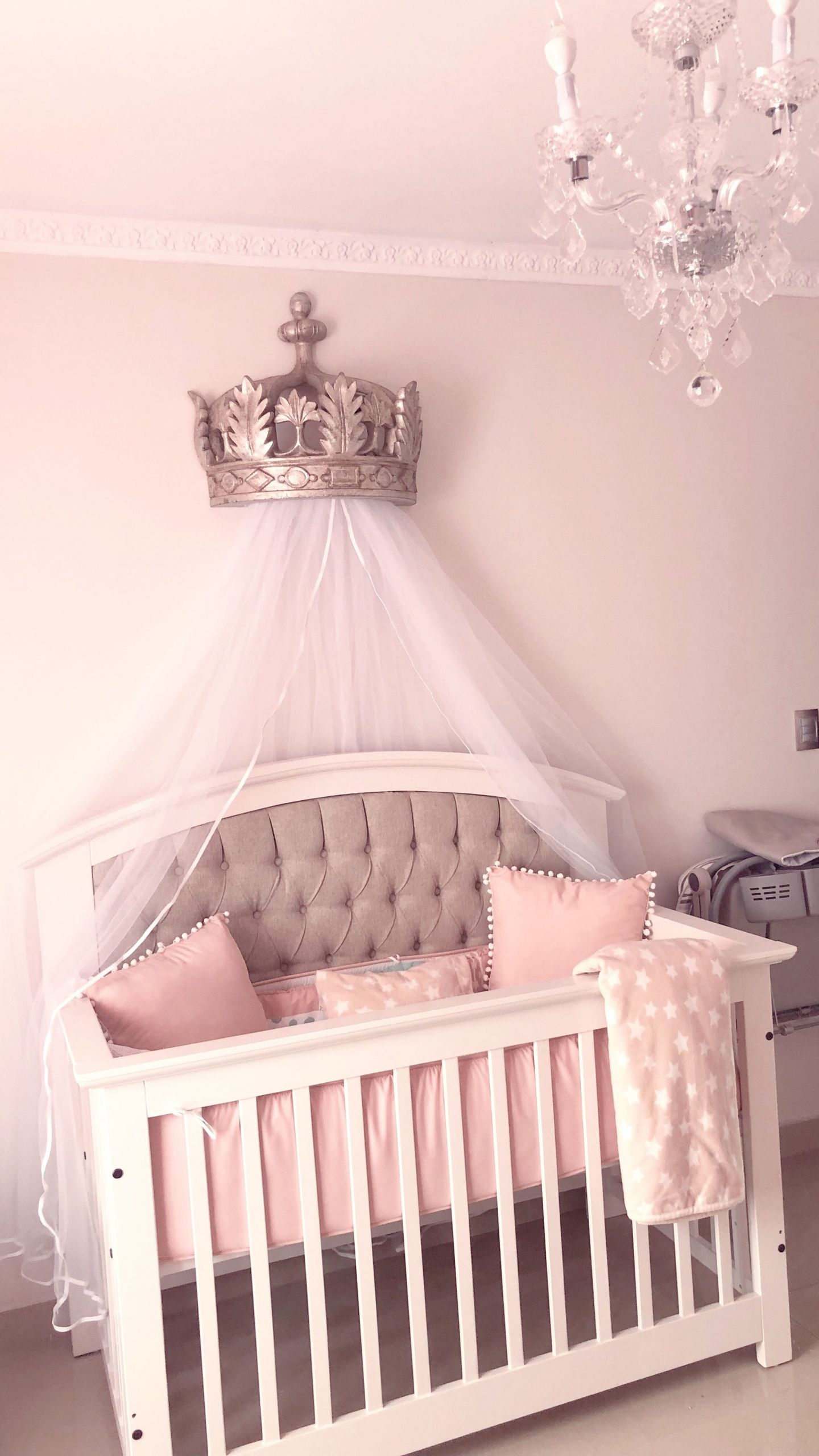 Crown Decor for Baby Room New Crown Canopy From Restoration Hardware Princess Nursery