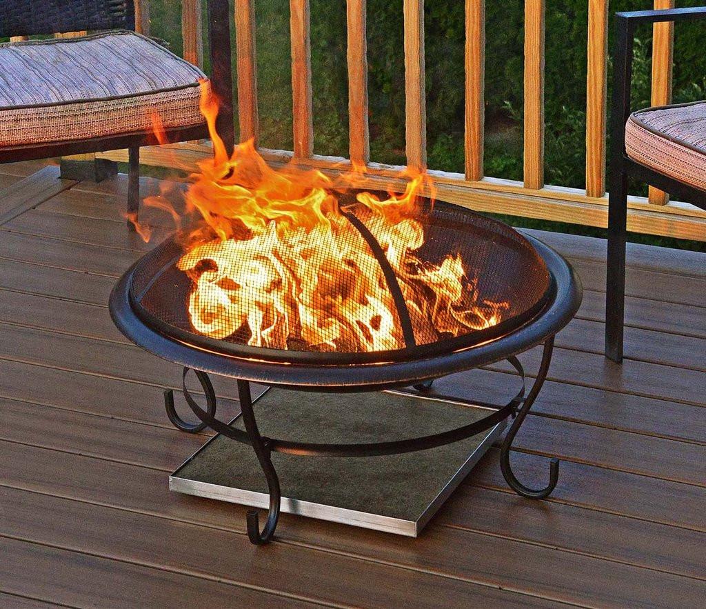 Deck Safe Fire Pits  Deck Protect Fire Pit Mat