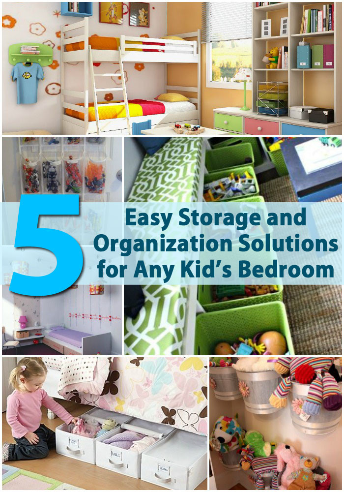 Diy Bedroom Organization  5 Easy Storage and Organization Solutions for Any Kid's