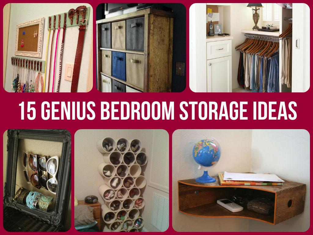 Diy Bedroom Organization  15 Genius Bedroom Storage Ideas