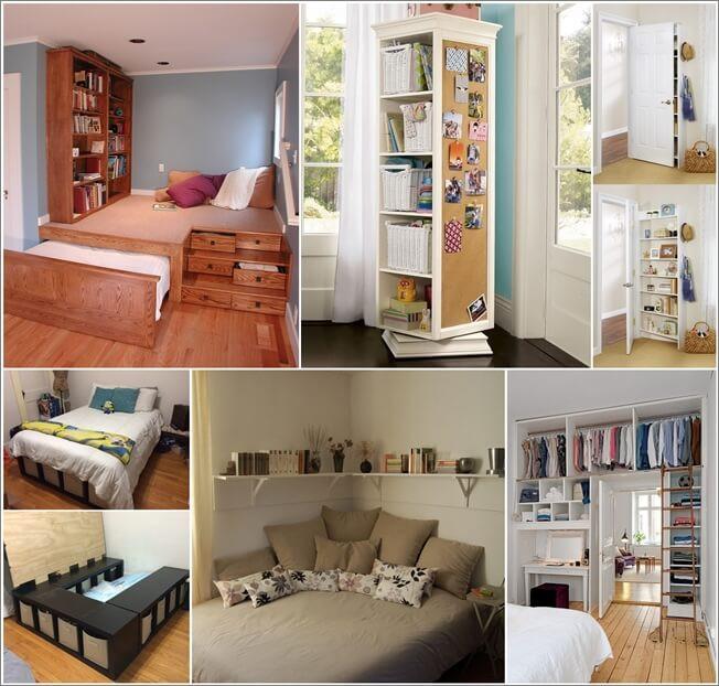 Diy Bedroom Organization  Storage Ideas for a Small Bedroom FancyDiyArt