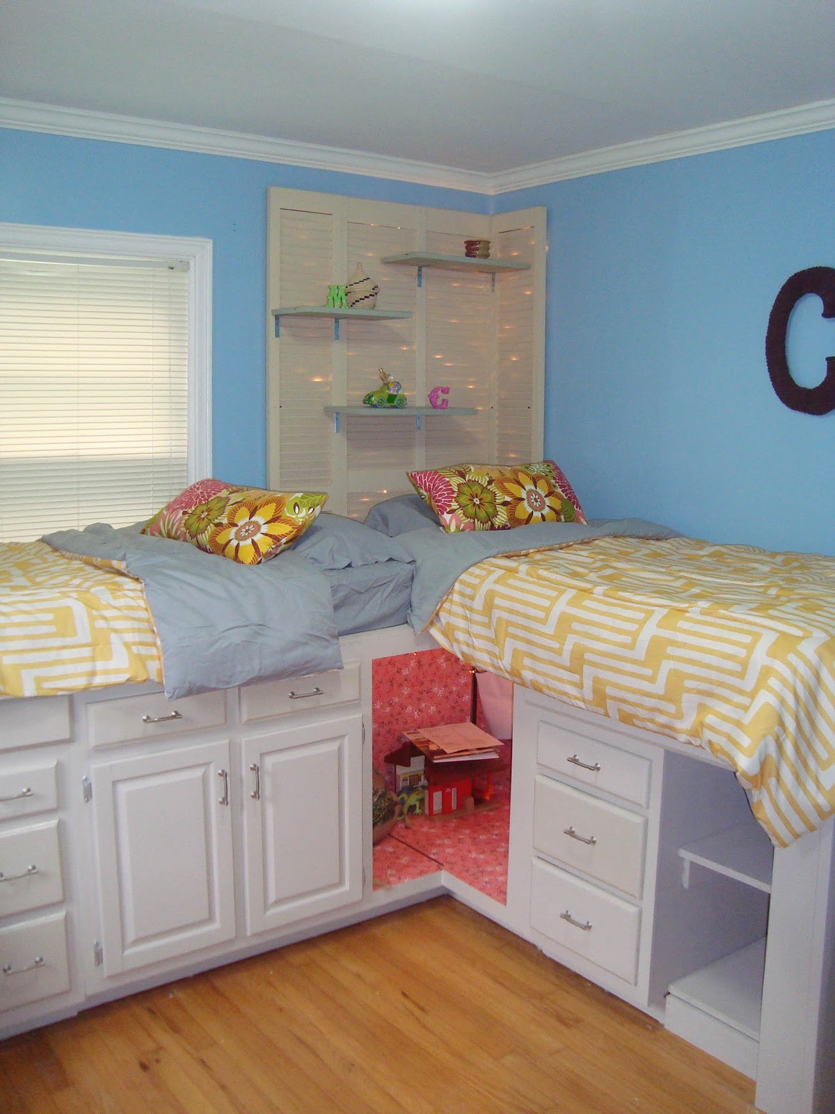 Diy Bedroom Organization  The Pages Beds with Storage for my girls