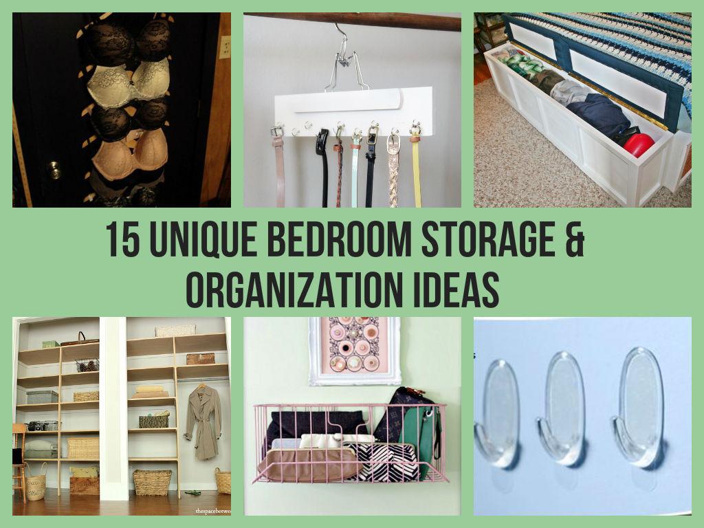 Diy Bedroom Organization  15 Unique Bedroom Storage & Organization Ideas