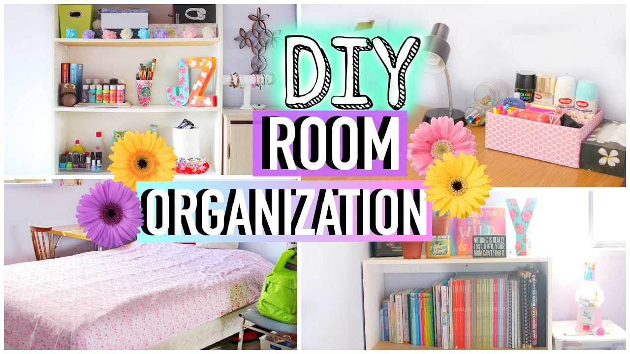Diy Bedroom Organization  How to Clean Your Room DIY Room Organization and Storage