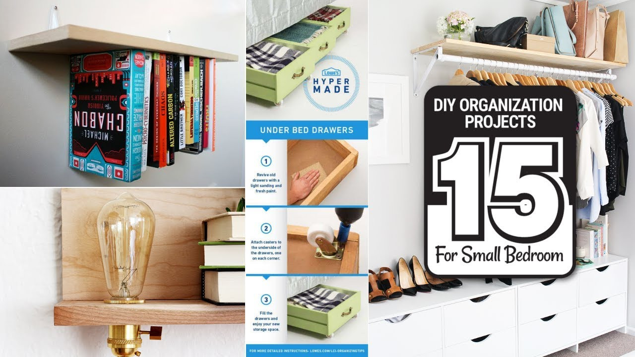 Diy Bedroom Organization  15 DIY Organization Projects for Small Size Bedrooms