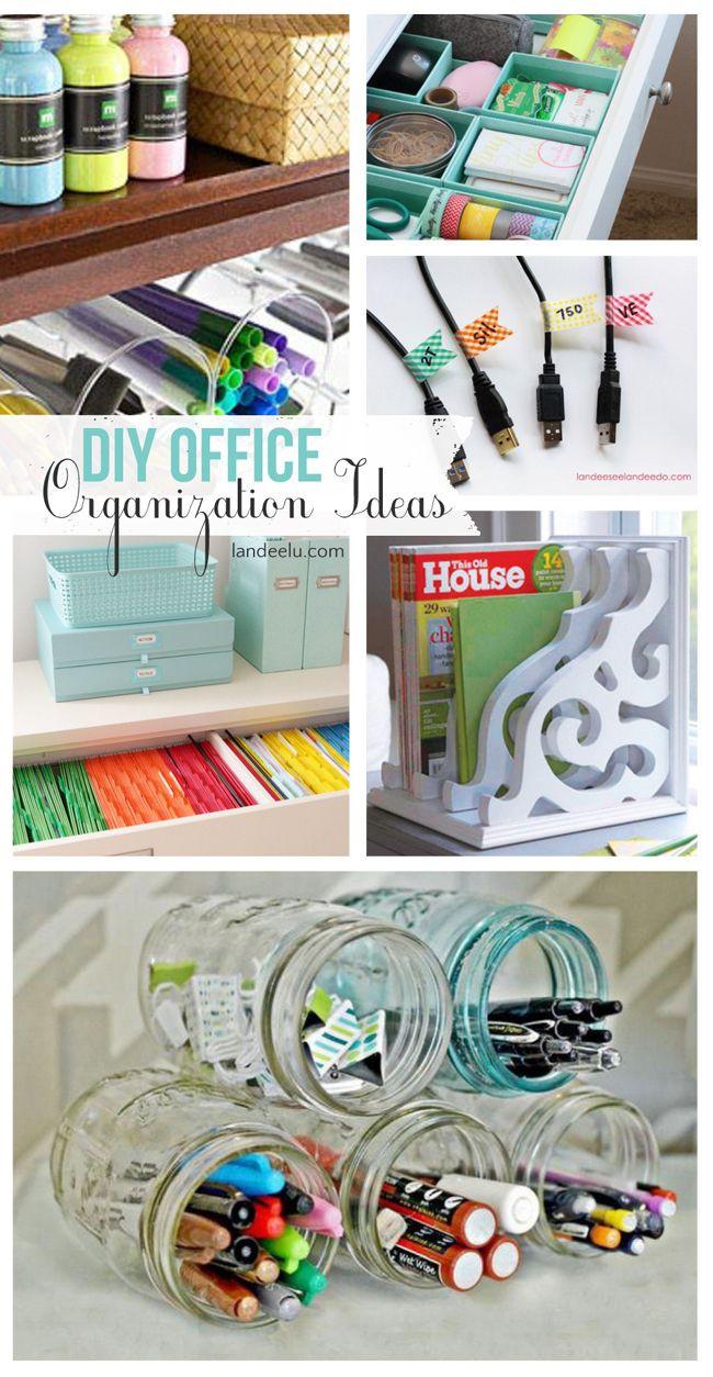 Diy Bedroom Organization  DIY fice Organization Ideas