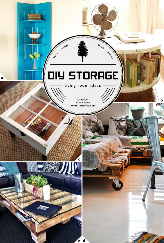 Diy Living Room Ideas  Creative Living Room Storage Ideas