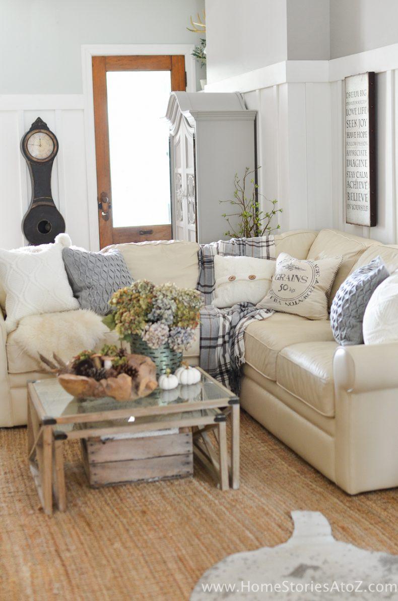 Diy Living Room Ideas  DIY Home Decor Fall Home Tour