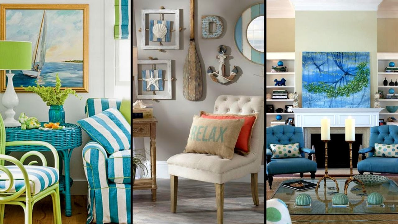 Diy Living Room Ideas  DIY Seaside Living room Decorating Ideas Living room