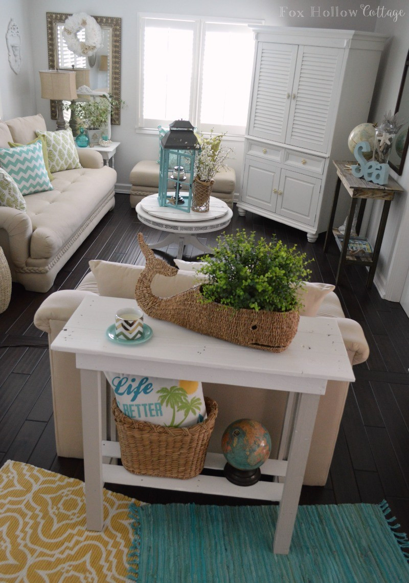 Diy Living Room Ideas  More Summer Decor and a DIY Paint Makeover