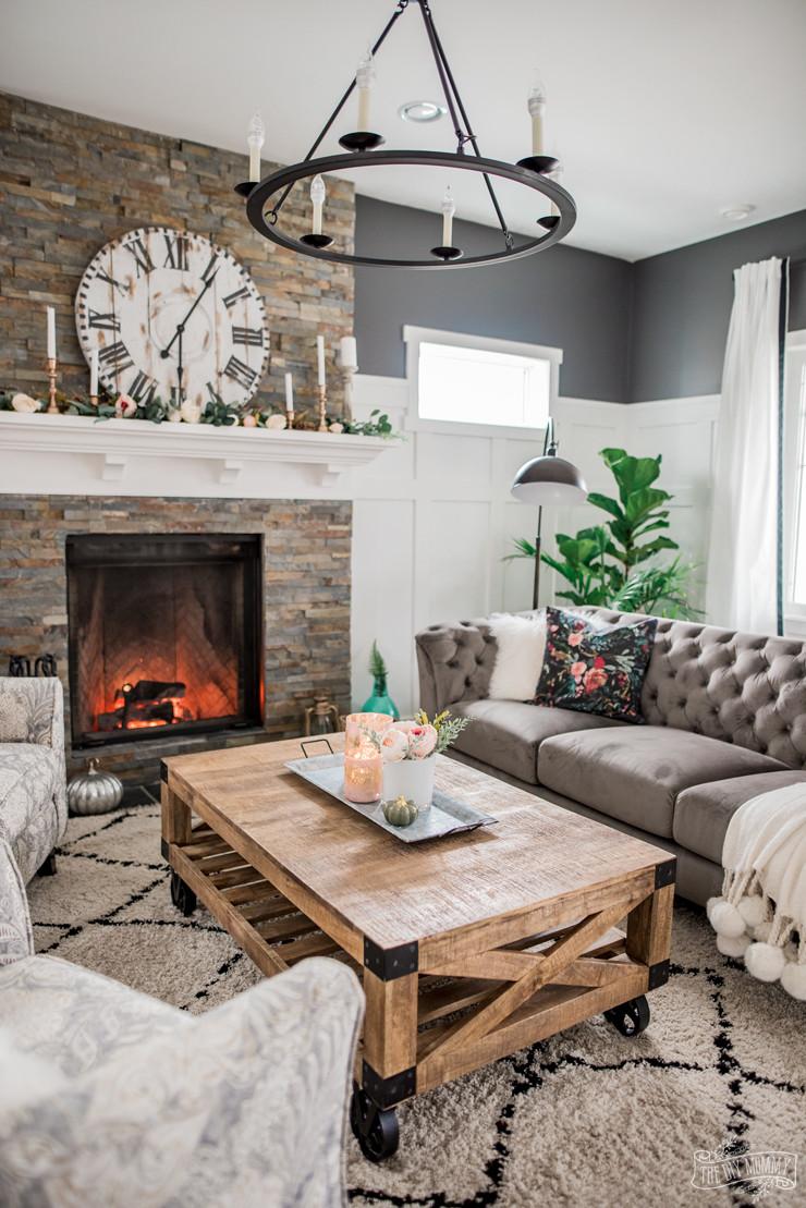 Diy Living Room Ideas  A Cozy Rustic Glam Living Room Makeover for Fall