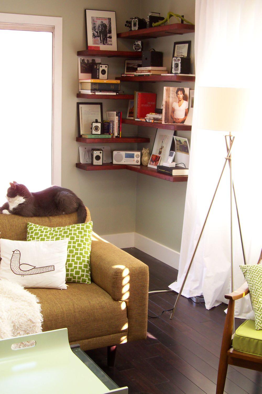 Diy Living Room Ideas  15 Ways to DIY Creative Corner Shelves