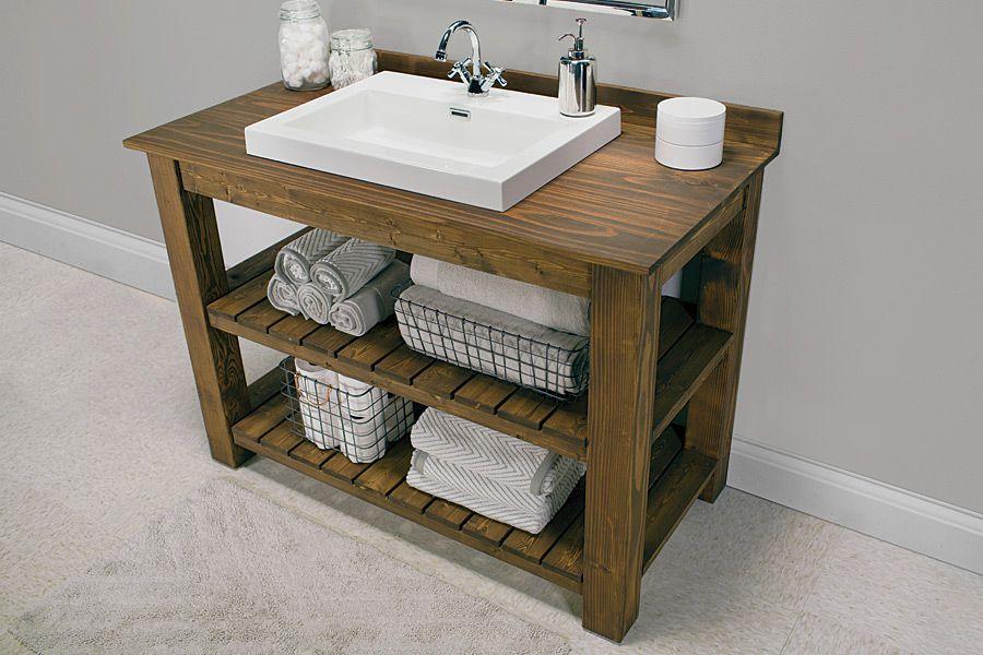 Diy Rustic Bathroom Vanity New 14 Diy Bathroom Vanity Plans You Can Build today