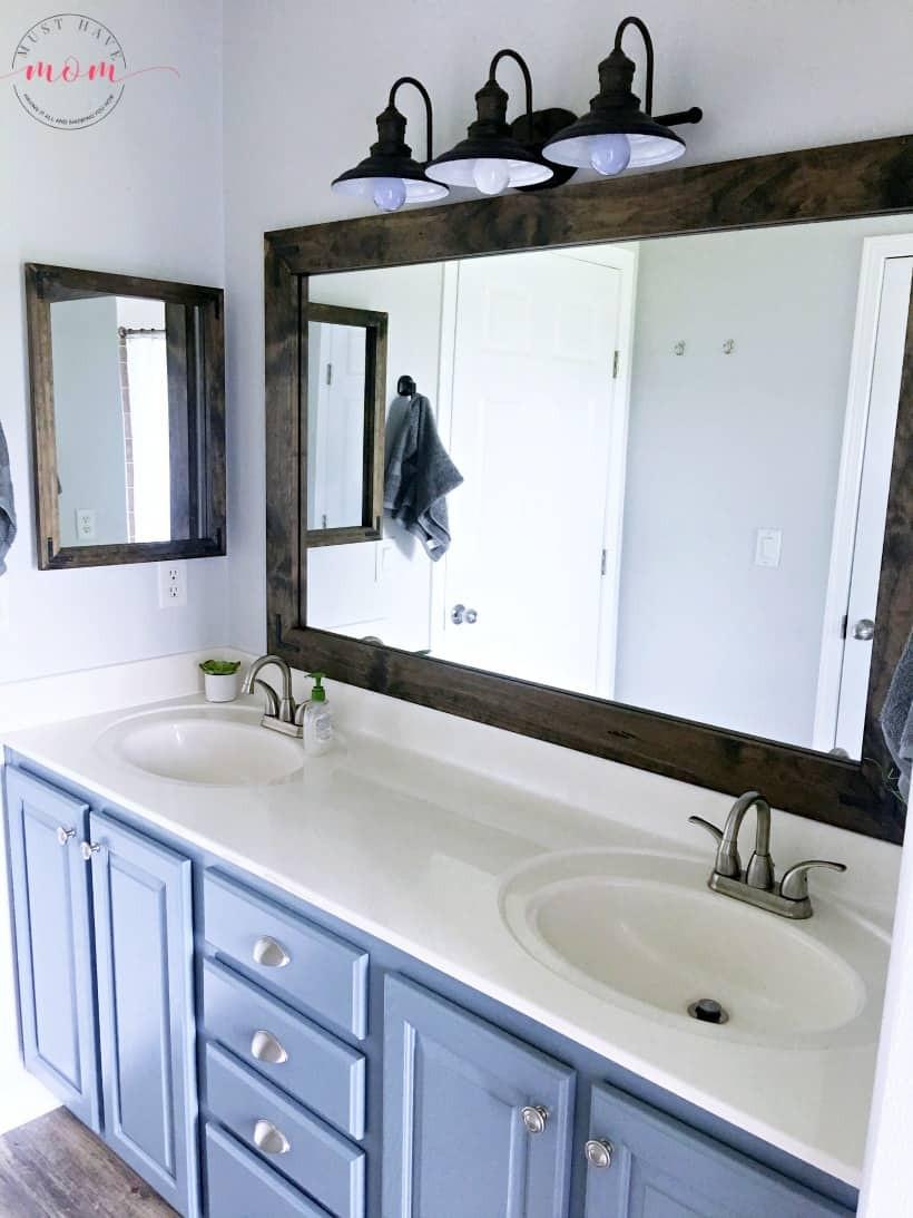 Farmhouse Bathroom Mirrors  Farmhouse Style Fixer Upper Bathroom A Bud Must