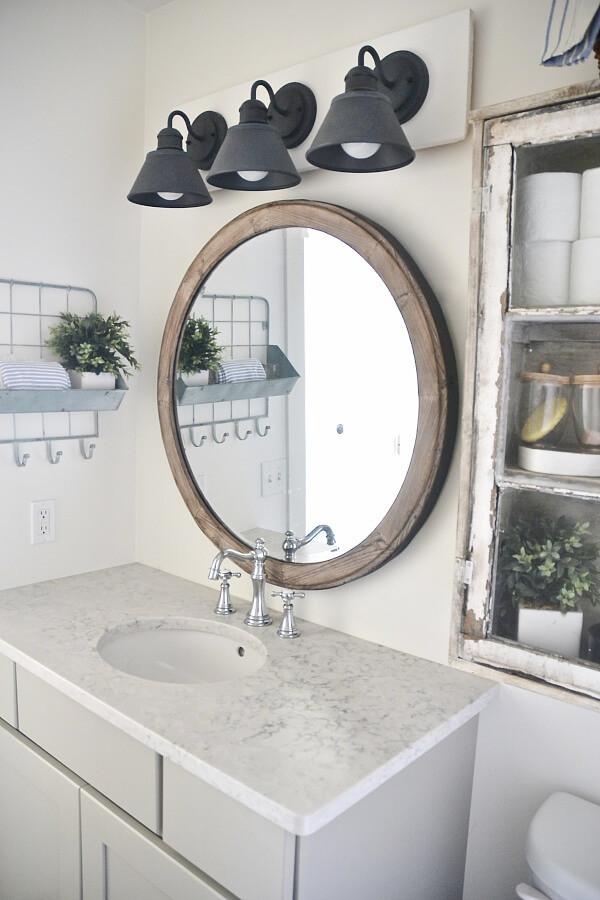 Farmhouse Bathroom Mirrors  36 Best Farmhouse Bathroom Design and Decor Ideas for 2017