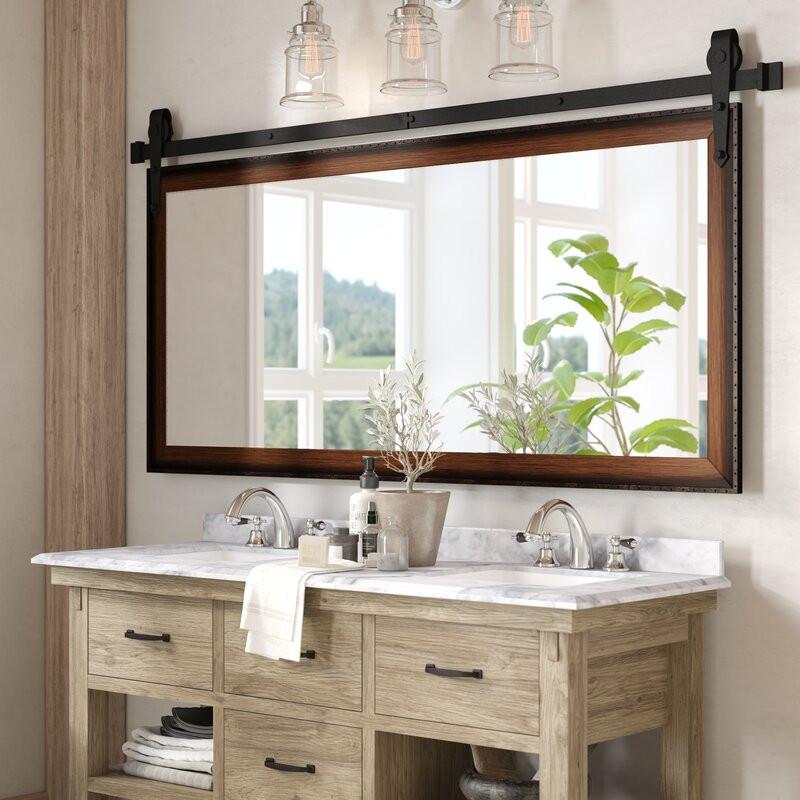Farmhouse Bathroom Mirrors  Laurel Foundry Modern Farmhouse Abraham Bathroom Vanity