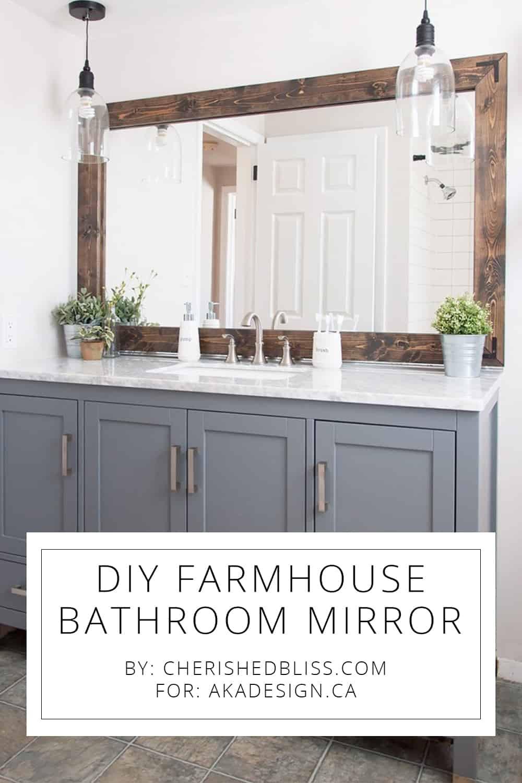 Farmhouse Bathroom Mirrors  DIY Farmhouse Bathroom Mirror Tutorial