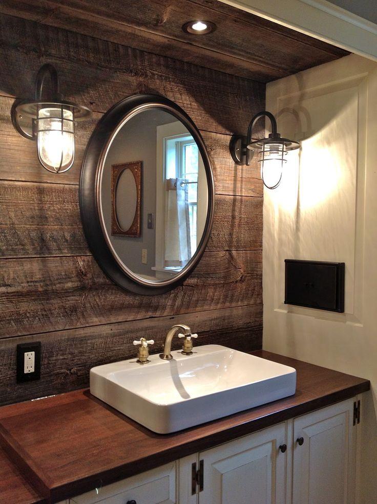 Farmhouse Bathroom Mirrors  32 Cozy And Relaxing Farmhouse Bathroom Designs