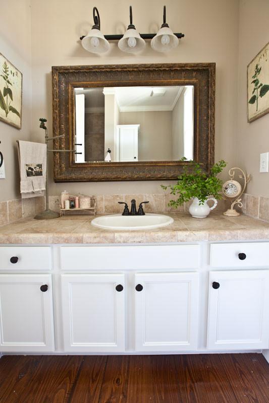 Farmhouse Bathroom Mirrors  Farmhouse Bathroom Updates Cedar Hill Farmhouse